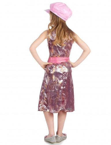 Costume disco rosa flash bambina-2