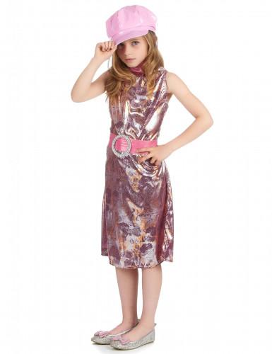 Costume disco rosa flash bambina-1