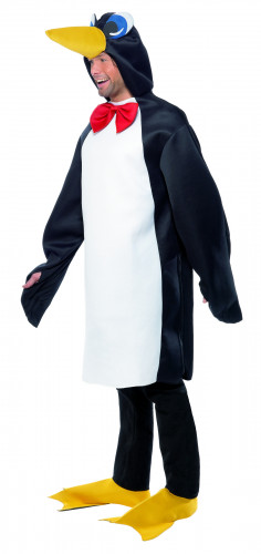 Costume da pinguino con papillon per adulto-1