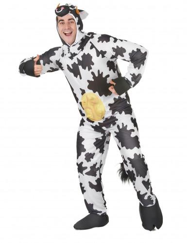 Costume da mucca con mammelle adulto-1