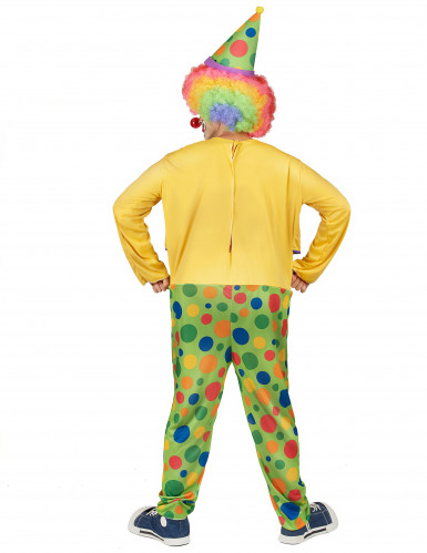 Costume clown con finta cravatta uomo-2