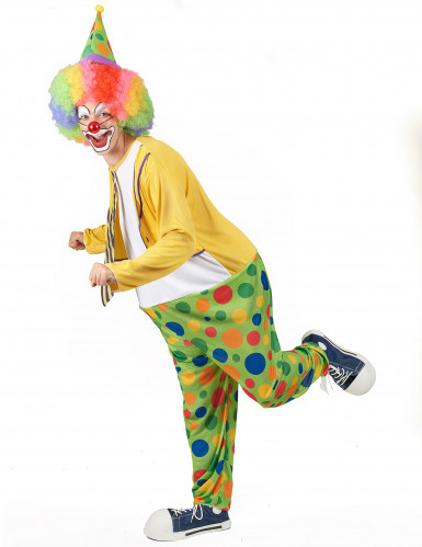 Costume clown con finta cravatta uomo-1