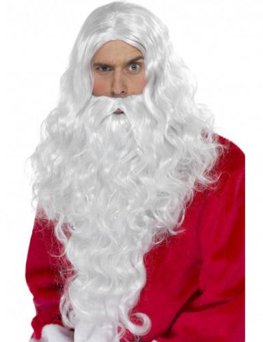 Parrucca e barba da Babbo Natale adulto