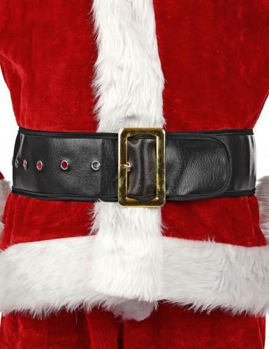 Cintura nera da Babbo Natale adulto-3