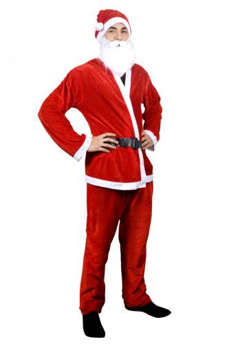 Costume da Babbo Natale con cintura per uomo