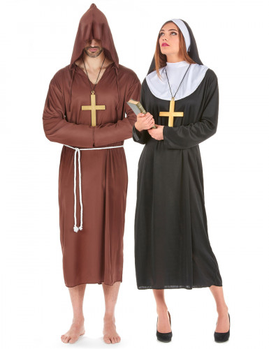 Costume coppia di monaco e monaca