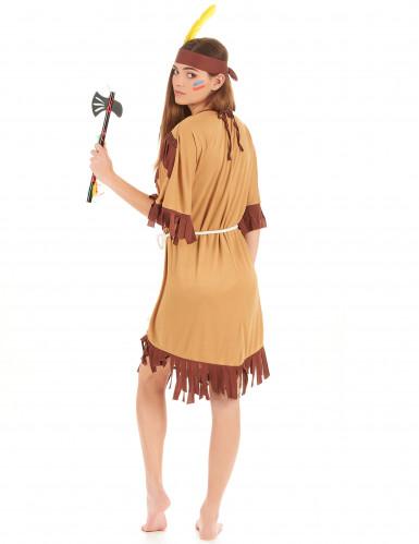 Costume indiana pelle rossa per donna-2