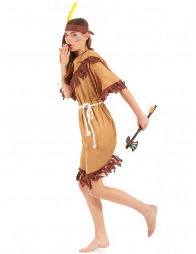 Costume indiana pelle rossa per donna-1