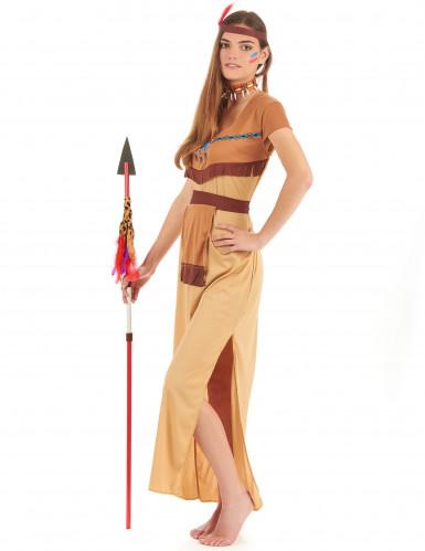 Costume beige coppia indiani adulto-2