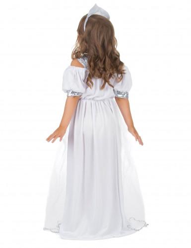 Costume principessa bambina argentato-2
