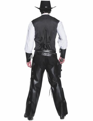 Costume cowboy con effetto pelle uomo-1