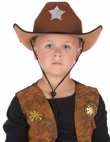 Cappello da sceriffo marrone-1