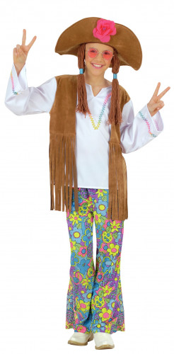 Costume hippy Flower Power bambina