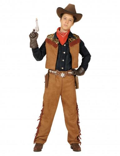 Costume cowboy con gilet per bambino