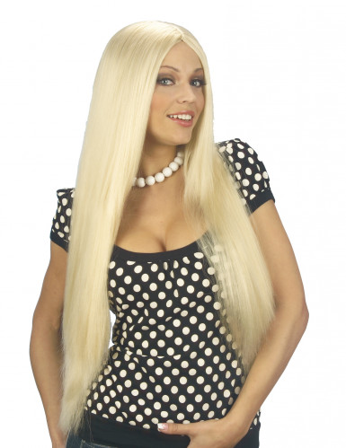 Parrucca bionda con capelli lunga donna