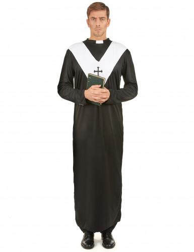 Costume tunica da prete per uomo