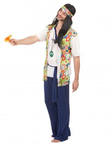 Costume hippy con gilet per uomo-1