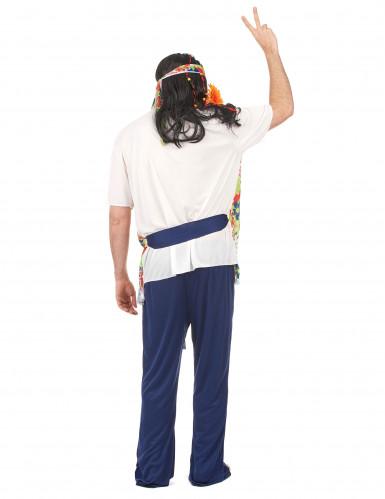 Costume hippy con gilet per uomo-2