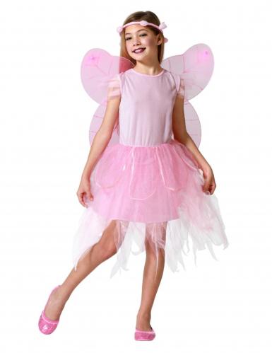 Costume fata rosa bambina