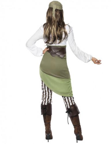 Costume pirata bianco e verde per donna-2