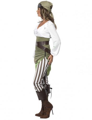 Costume pirata bianco e verde per donna-1