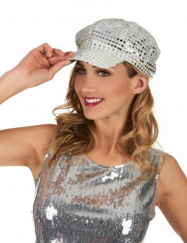 Cappellino disco argento