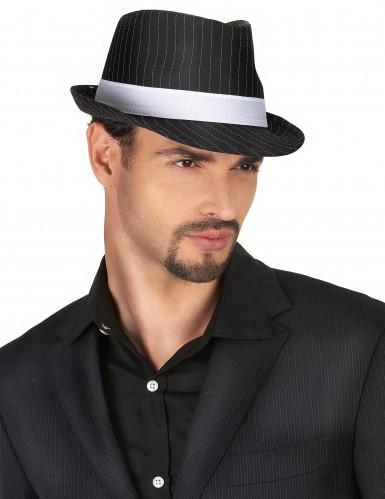 Cappello gangster nero a righe adulto-1