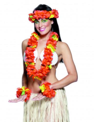 Kit hawaiano rosso