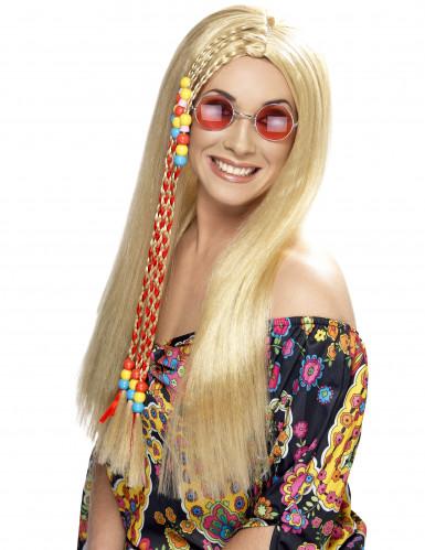 Parrucca hippie bionda donna