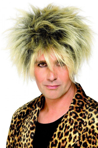 Parrucca da rock star spettinata uomo