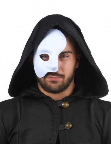 Metà maschera bianca adulto