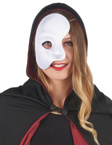 Metà maschera bianca adulto-1