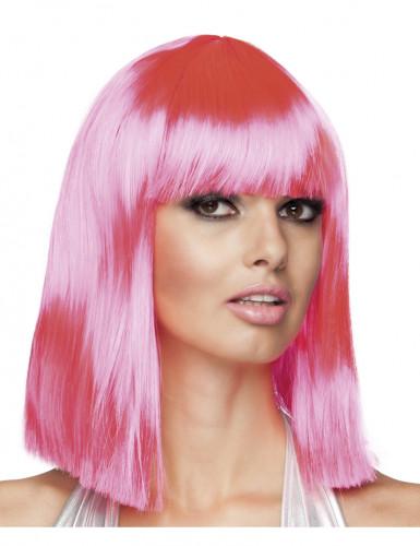 Parrucca rosa donna