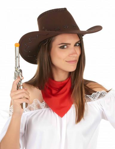 Cappello da cowboy marrone per adulto-2