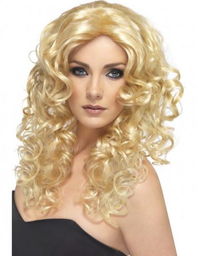 Parrucca bionda ondulata per donna