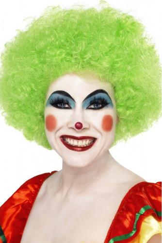 Parrucca afro //disco/clown verde adulto