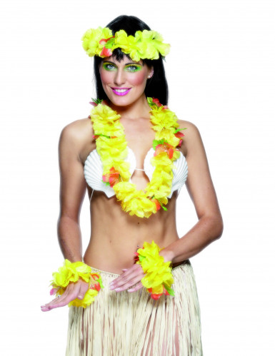 Set hawaiano giallo