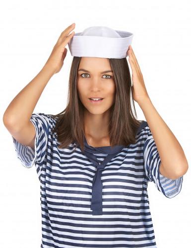 Cappello bianco da marinaio-2