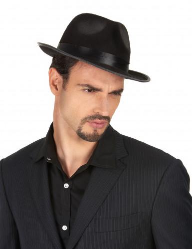 Cappello gangster nero-1