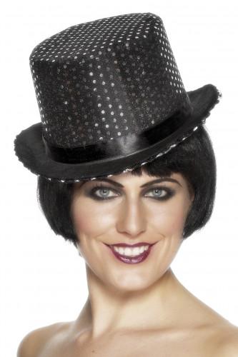 Cappello nero paillettato