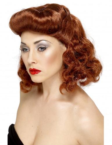 Parrucca pin-up castana donna