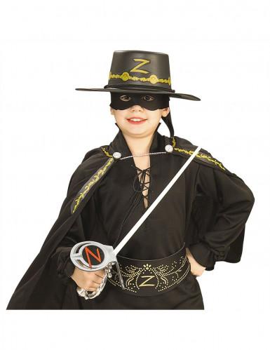 Kit Zorro™ spada, maschera e cappello bambini