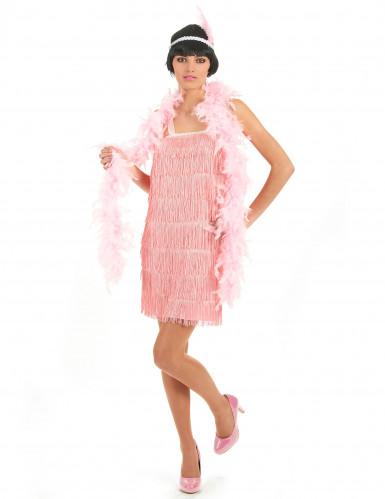 Costume anni '20 rosa charleston donna