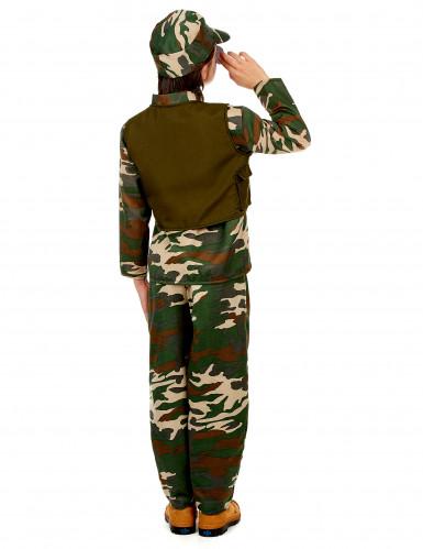 Costume militare con berretto per bambino-2