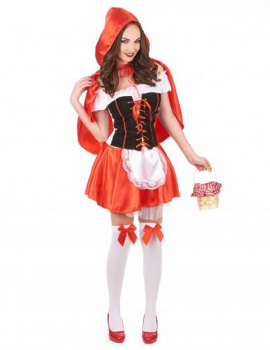 Costume da Cappuccetto Rosso corto da donna