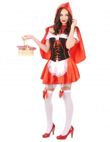 Costume da Cappuccetto Rosso corto da donna-1