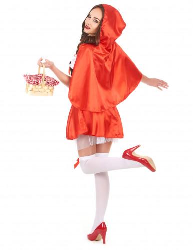 Costume da Cappuccetto Rosso corto da donna-2