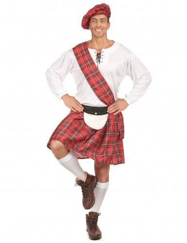 Costume scozzese rosso uomo