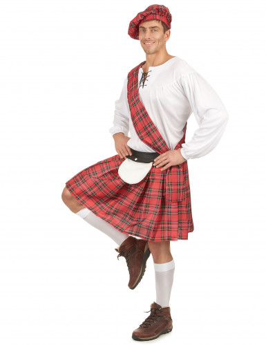 Costume scozzese rosso uomo-1
