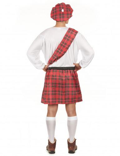 Costume scozzese rosso uomo-2